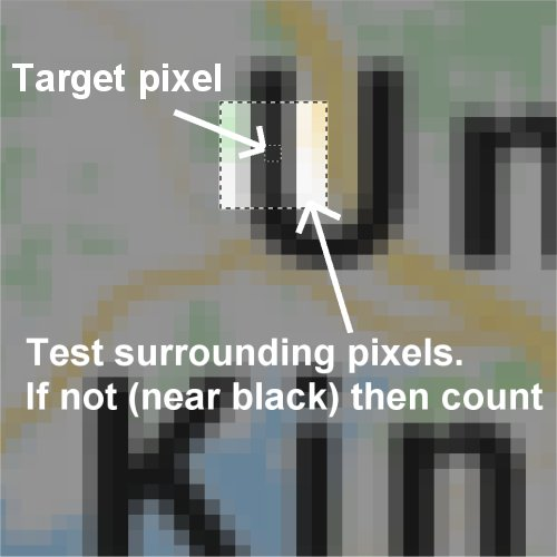 check nearest pixel colors right