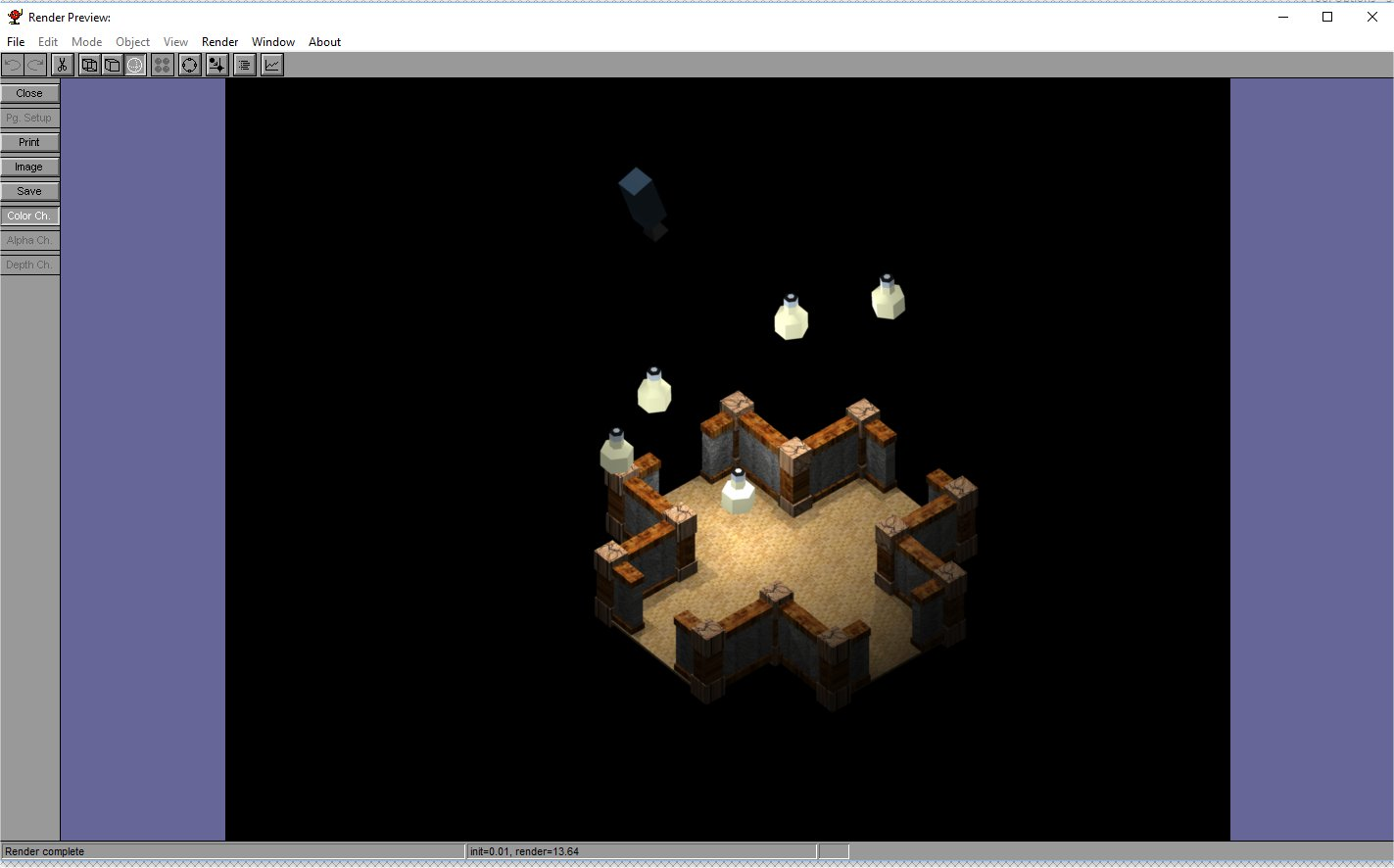 rpg model lighting setup