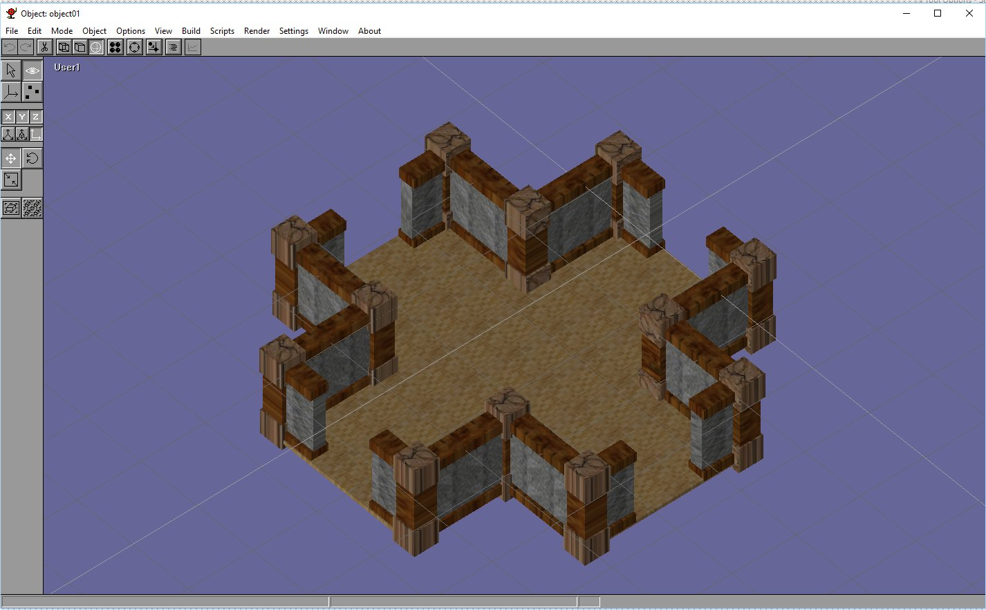 basic rpg room model in anim8or