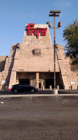 Ancient Aztec Fry's Corporate Headquarters Pyramid