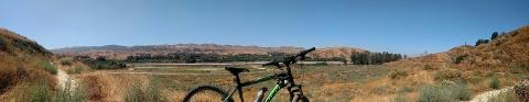 view of my old bike upper trail san timoteo redlands