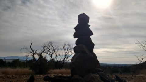 decided to add a rock sculpture to the top of the trail santa rosa plateau